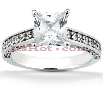 14K Gold Diamond Unique Engagement Ring 1.21ct Main Image