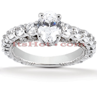 14K Gold Diamond Unique Engagement Ring 1.84ct Main Image