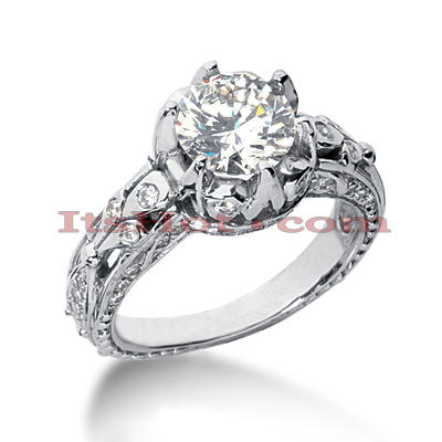 14K Gold Diamond Unique Engagement Ring 2.46ct Main Image