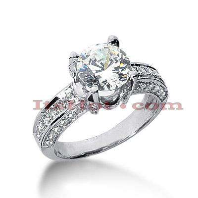 14K Gold Diamond Unique Engagement Ring 2.73ct Main Image