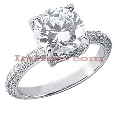 14K Gold Diamond Unique Engagement Ring 3.01ct Main Image