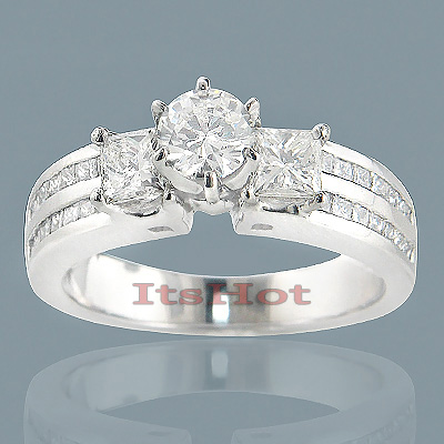 14K Gold Diamond Unique Engagement Ring 3.16ct Main Image
