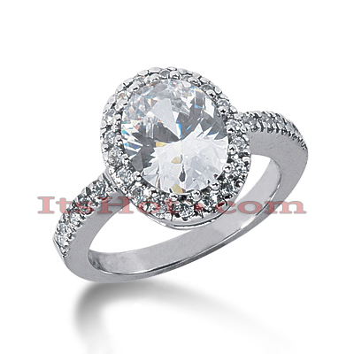 14K Gold Diamond Unique Engagement Ring 3.42ct Main Image