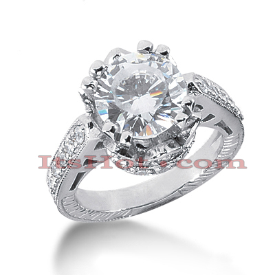 14K Gold Diamond Unique Engagement Ring 3.65ct Main Image