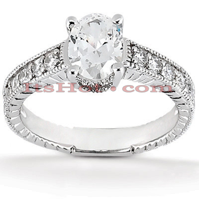 14K Gold Diamond Vintage Engagement Ring 0.40ct
