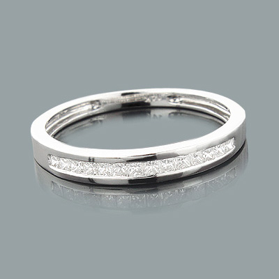 Ultra Thin 14K Gold Diamond Wedding Bands Collection Item 0.26ct