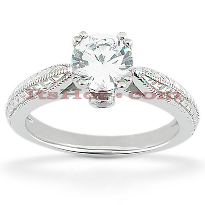 14K Gold Eight-Prong Solitaire Engagement Ring 0.53ct Main Image