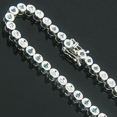 14K Gold Fancy Color Blue Diamond Necklace Chain 8.82ct Main Image
