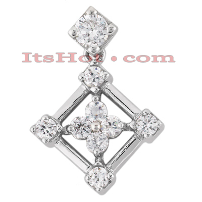14K Gold Flower Diamond Charm 0.34ct Main Image