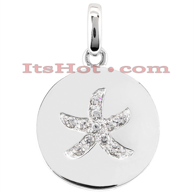 14K Gold Flower Diamond Pendant 0.11ct Main Image