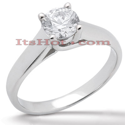14K Gold Four-Prong Engagement Ring Mounting Main Image