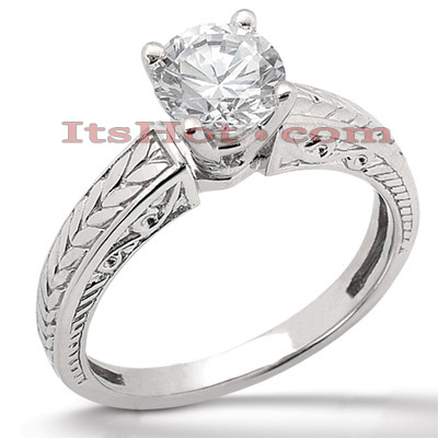 14K Gold Four-Prong Solitaire Engagement Ring 0.40ct 3.7mm Main Image