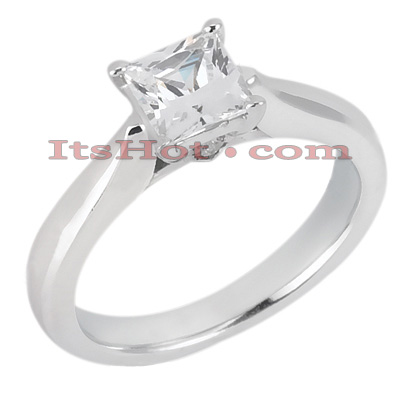 14K Gold Four-Prong Solitaire Engagement Ring 0.46ct Main Image