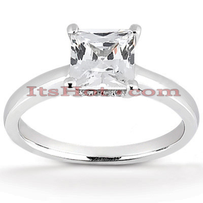14K Gold Four-Prong Solitaire Engagement Ring 0.46ct 2.4mm Main Image