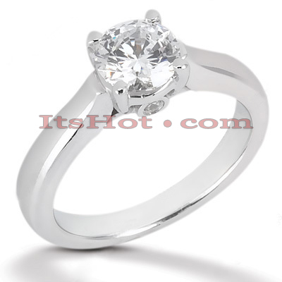 14K Gold Four-Prong Solitaire Engagement Ring 0.53ct