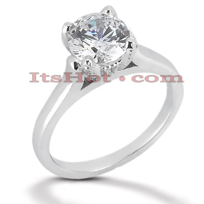 14K Gold Four-Prong Solitaire Engagement Ring 0.54ct Main Image