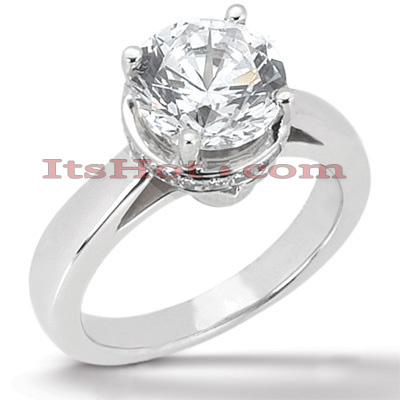 14K Gold Four-Prong Solitaire Engagement Ring 0.82ct