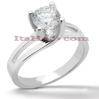 14K Gold Four-Prong Solitaire Engagement Ring 1.25ct Main Image