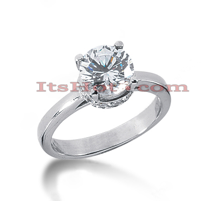 14K Gold Four-Prong Solitaire Engagement Ring 1.74ct Main Image
