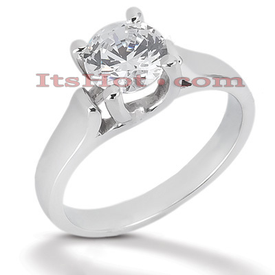 14K Gold Four-Prong Solitaire Engagement Ring 1ct Main Image