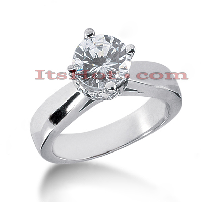 14K Gold Four-Prong Solitaire Engagement Ring 2.24ct Main Image