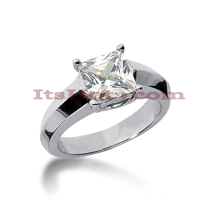 14K Gold Four-Prong Solitaire Engagement Ring 2.25ct