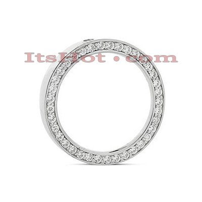 14K Gold Ladies Circle Diamond Necklace 1.11ct Main Image