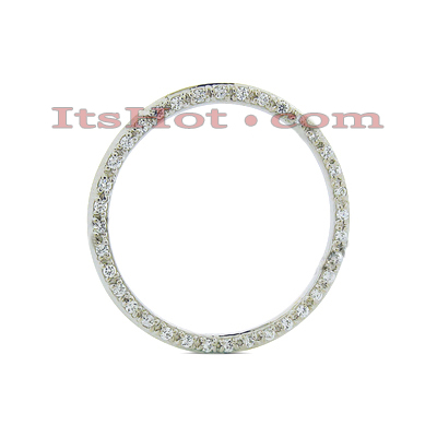 14K Gold Ladies Circle Diamond Pendant 0.72ct Main Image