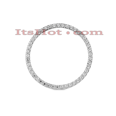 14K Gold Ladies Circle Diamond Pendant 0.90ct