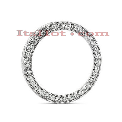 14K Gold Ladies Circle Diamond Pendant 1.11ct Main Image