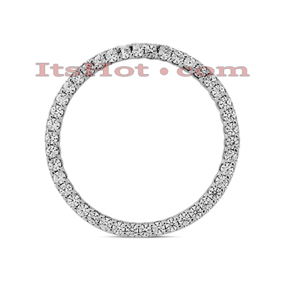 14K Gold Ladies Circle Diamond Pendant 1.26ct Main Image
