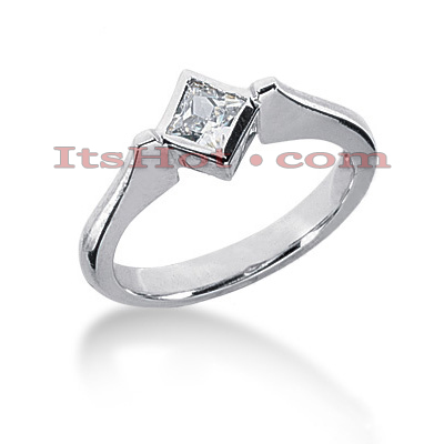 Ultra Thin 14K Gold Ladies Diamond Ring 0.30ct Main Image
