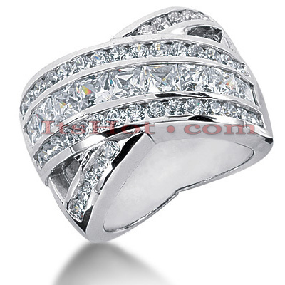 14K Gold Ladies Diamond Ring 3.43ct Main Image