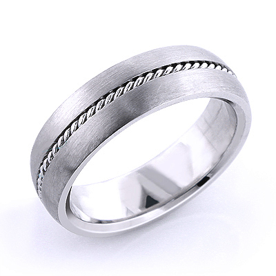14K Gold Little Braid Wedding Band for Men