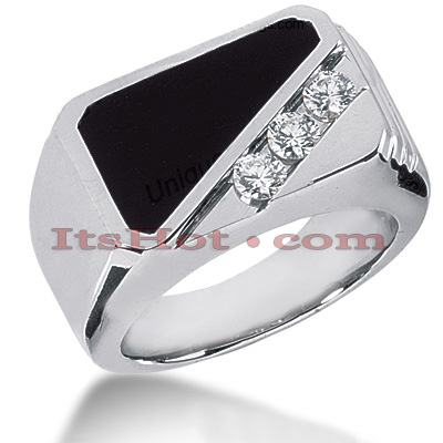 14K Gold Men's Diamond Ring 0.15ct