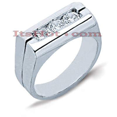 14K Gold Men's Diamond Ring 0.75ct Main Image