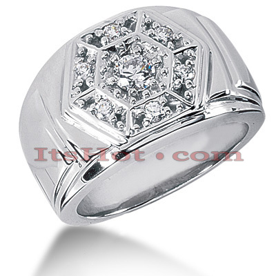 14K Gold Men's Diamond Ring 1.04ct Main Image