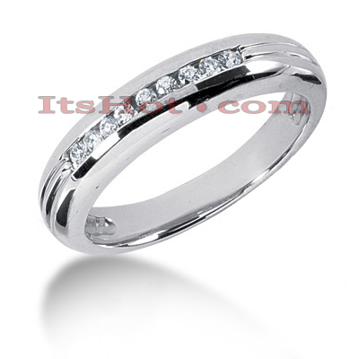 14K Gold Mens Diamond Wedding Band 0.23ct Main Image