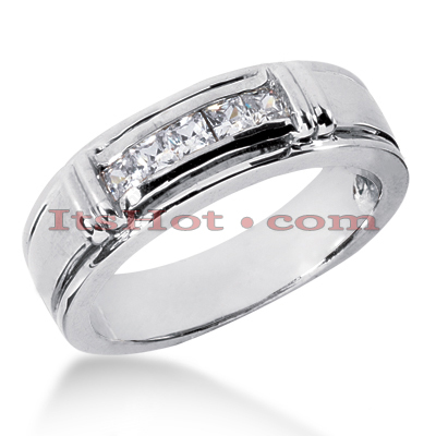 14K Gold Men's Diamond Wedding Band 0.50ct Main Image