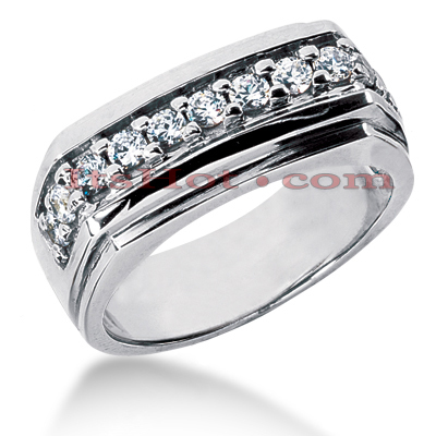 14K Gold Men's Diamond Wedding Band 0.66ct Main Image