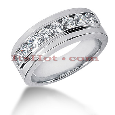 14K Gold Men's Diamond Wedding Band 0.80ct Main Image