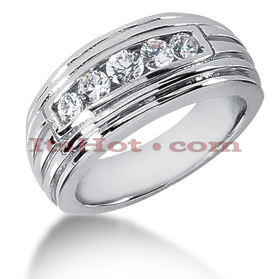 14K Gold Men's Diamond Wedding Ring 0.36ct Main Image