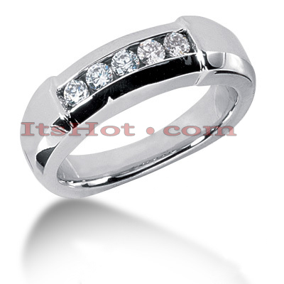14K Gold Men's Diamond Wedding Ring 0.45ct Main Image