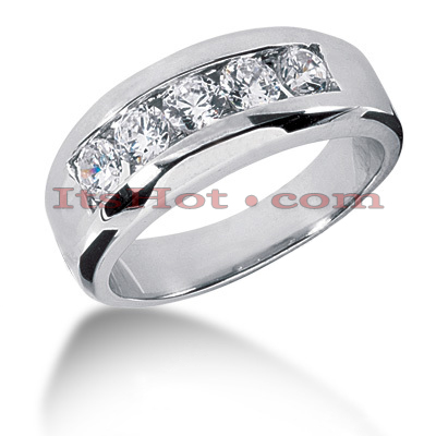 14K Gold Men's Diamond Wedding Ring 0.50ct Main Image