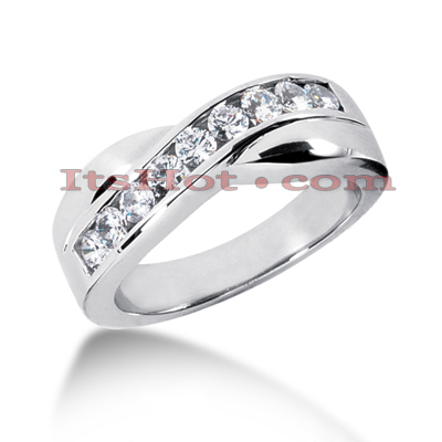 14K Gold Men's Diamond Wedding Ring 0.77ct Main Image