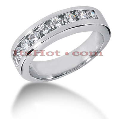 14K Gold Men's Diamond Wedding Ring 0.90ct Main Image
