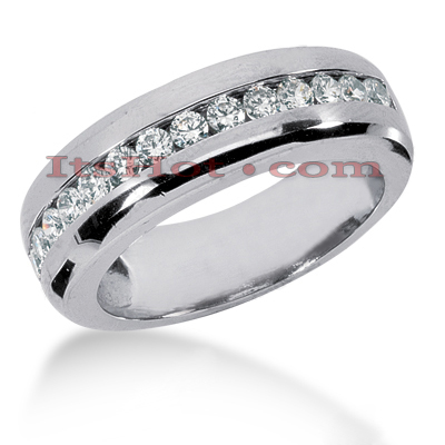 14K Gold Men's Diamond Wedding Ring 0.98ct Main Image