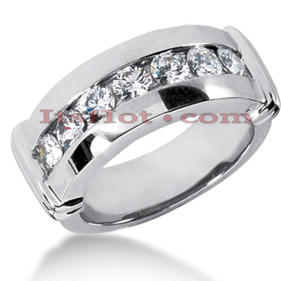 14K Gold Men's Diamond Wedding Ring 1.05ct Main Image