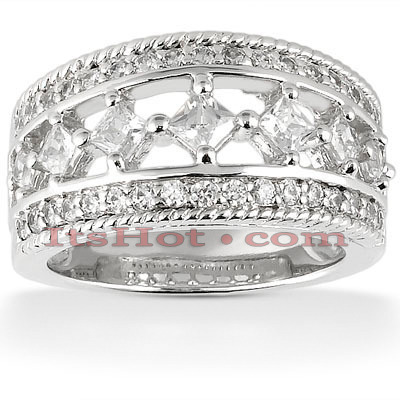 14K Gold Mens Diamond Wedding Ring 1.26ct Main Image