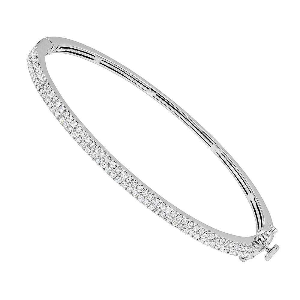 ethos product diamond bangles white gold pave bangle bracelet canada stackable pav